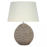 Rattan Cream Table Lamp with Shade