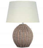 Natural Rattan Small Orb Table Lamp