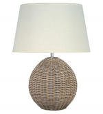 Natural Rattan Large Orb Table Lamp