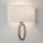Amulet Matt Nickel Semicircular Wall Light