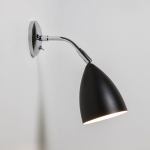 Drop Black and Polished Chrome Adjustable Wall Light