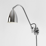 Drop Polished Chrome Adjustable Wall Light (Large)