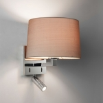 Square dual wall light Polished Chrome