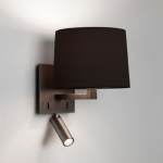 Square dual wall light Dark Bronze