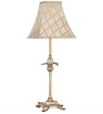 Candle Stick Table Lamp Athena Cream Gold