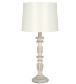 Loire Distressed Cream Wash Table Lamp