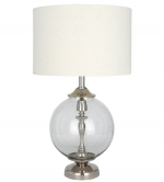 Casablanca Clear Glass Table Lamp