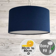 Aura Drum Pendant Royal Blue