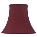 Bowed Empire Lampshade Burgundy Moire