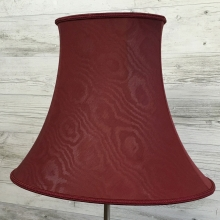 Bowed Oval Shade Burgundy