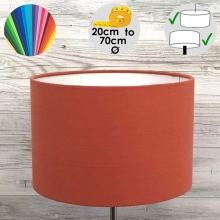 Aura Drum Table Lamp Shade Firebrick