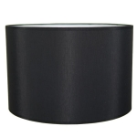 Drum Table lampshade in Black Cotton.