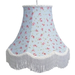 Cotton Lampshade Blue rose