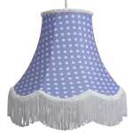 Cotton Lampshade Blue Spot