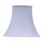 Bowed Empire Lampshade White Dupion