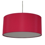 Drum Pendant Shade in Brick Cotton