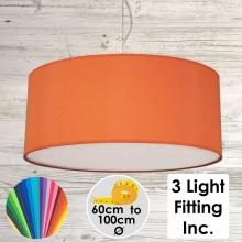 Burnt Orange Drum Ceiling Light