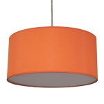 Drum Pendant Shade in Burnt Orange Cotton