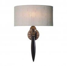 Contour wall light with taupe shade