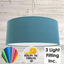 Cadet Blue Drum Ceiling Light