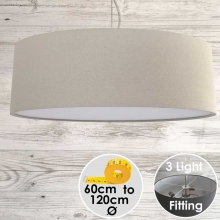 Cara Large Drum Shade Stone