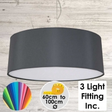 Charcoal Drum Ceiling Light