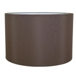 Drum Table Lampshade in Chocolate Brown Cotton.