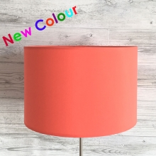 Drum Table lampshade Coral Red