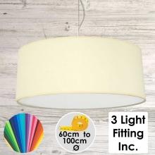 Cream Drum Ceiling Light