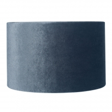 Velvet Drum Shade Grey