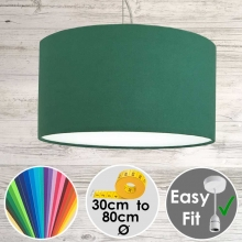 Aura Drum Pendant Green