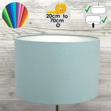 Aura Drum Table Lamp Shade Light Blue