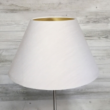 White & Gold Empire Lampshade