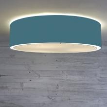 Flush Drum Ceiling Light Cadet Blue