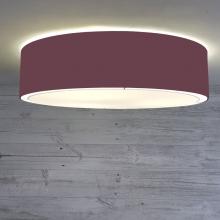 Flush Drum Ceiling Light Claret
