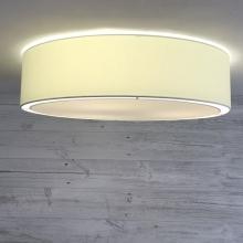 Flush Drum Ceiling Light Cream