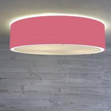 Flush Drum Ceiling Light Raspberry