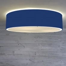 Flush Drum Shade Royal Blue