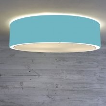 Flush Drum Shade Turquoise