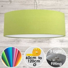 Cara Large Lime Green Drum Lampshade