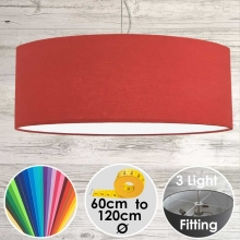 Cara Large Red Drum Lampshade