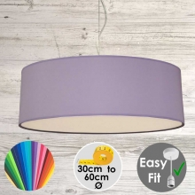 Lilac drum Light Shade