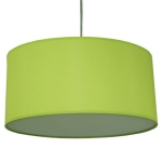 Drum Pendant Shade in Lime Green Cotton