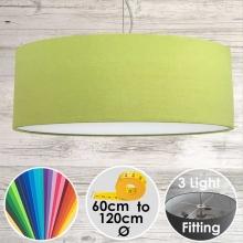 Cara XL Drum Ceiling Light Lime Green