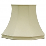 Skirted Octagon Lampshade Clotted Cream Dupion