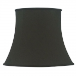Bowed Oval Lampshade Black Dupion