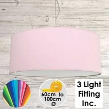 Pale Violet Drum Ceiling Light