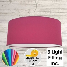 Raspberry Drum Ceiling light