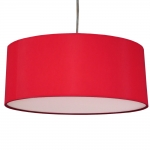 Drum Ceiling Shade Red
