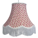 Floral Print Lamp Shade Red Rose